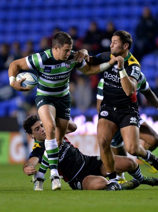 Fergus Mulchrone in Amlin Challenge Cup action for London Irish.