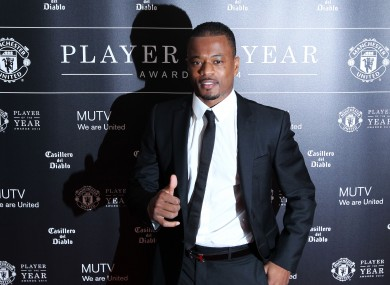 Evra's future at the club was in doubt, with United continually linked with Saints left-back Luke Shaw.
