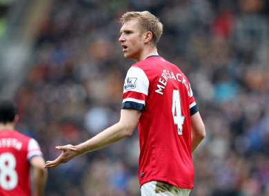 Per Mertesacker: one of the Gunners' players of the year.
