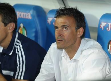 Luis Enrique on the Celta Vigo bench.