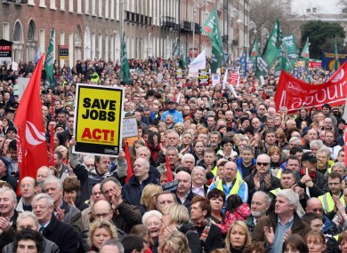 An ICTU march in 2009