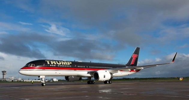 Donald Trump's gold-plated Boeing 757 is parked in Shannon at the moment – want a look inside?