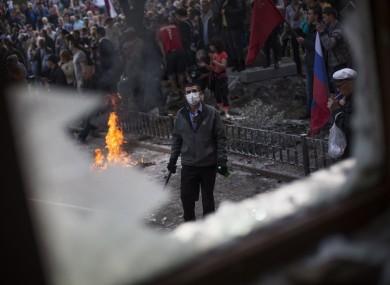 A demonstration during International Worker's Day in Donestsk.