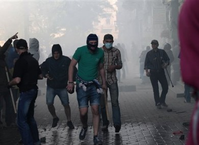 Clashes broke out between pro-Russians and government supporters in Odessa.