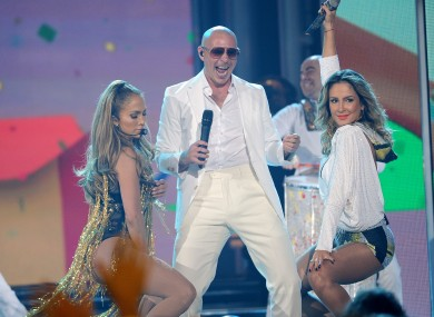 J-Lo, Pitbull and Claudia Leitte at the Billboard Music Awards