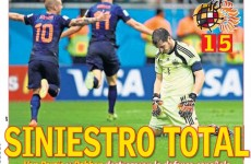 'Red shame': How the Spanish press reacted to yesterday's devastating loss to Holland