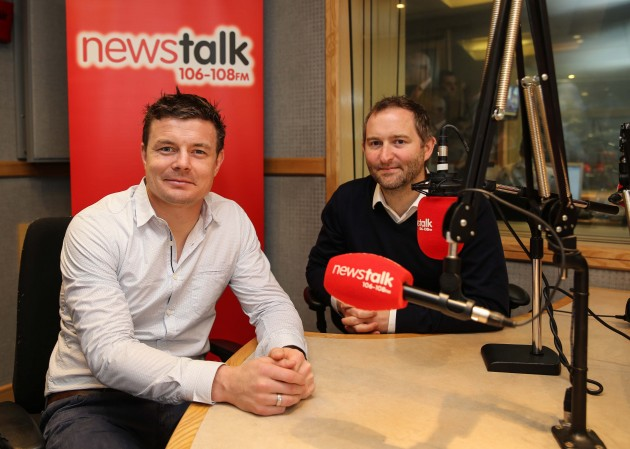 Brian O'Driscoll with Ger Gilroy