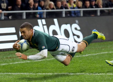 Bryan Habana scored for the Springboks [file photo].