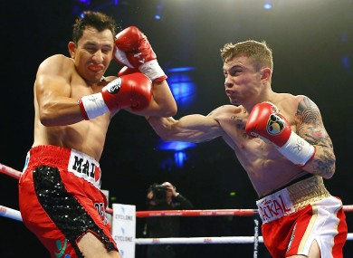 Frampton in action against Hugo Cazares back in April.