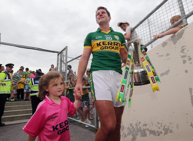 Eoin Brosnan with his daughter Annie after the game