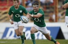 McFadden handed Ireland's 13 shirt as Schmidt makes eight changes