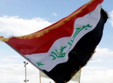 File photo of an Iraqi national flag.