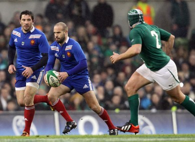 Michalak in action against Ireland in 2013.