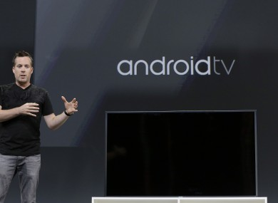 David Burke, director of engineering at Android, unveils Android TV.