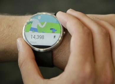 The Moto 360 smartwatch.