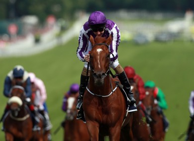 Australia, in the hands of Joseph O'Brien on his way to winning the Derby.