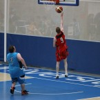 Shooting for a basket<span class=
