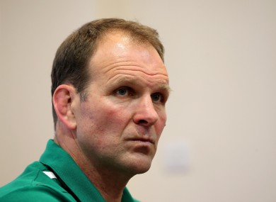 John Plumtree at this afternoon's press briefing.