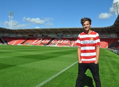 Louis Tomlinson lined out for the Doncaster reserves in February.