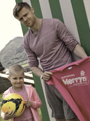 Merryn Lacy and Irish footballer Damien Duff.
