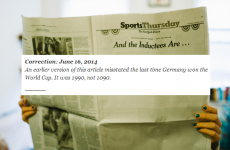 The New York Times just made the greatest correction of the World Cup