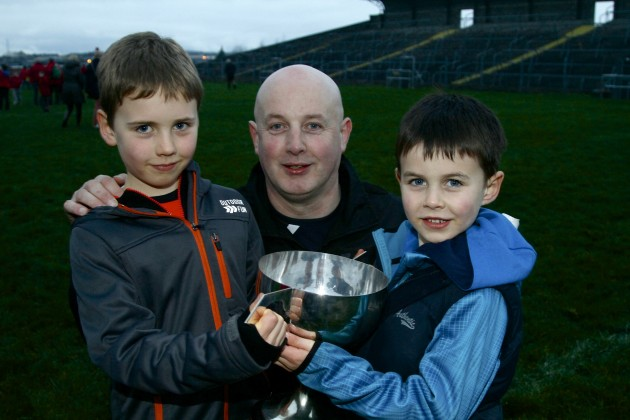 Pat Holmes with his sons Joey and Ben
