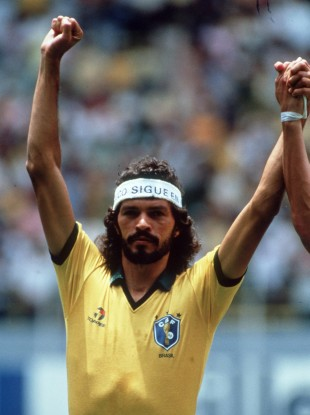 The great Socrates played against Ireland in 1982.