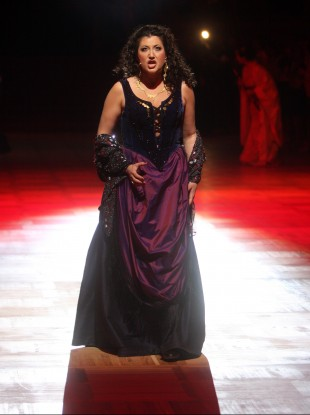 Tamar Iveri  performing at Vienna's traditional Opera Ball