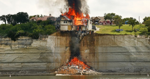 Is your $700k mansion about to fall off a cliff? It might be better to just set it on fire