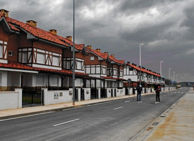 Empty town on Spain's Camino.
