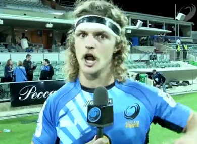 Nick Cummins was away for his try 'quicker than a bride's nighties'.
