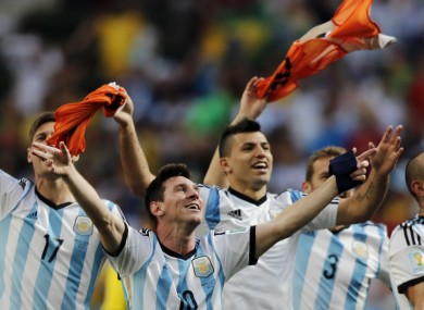 Lionel Messi soaks up Argentine adulation after the 1-0 win over Belgium.