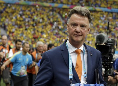 Netherlands' head coach Louis van Gaal pictured at tonight's match.