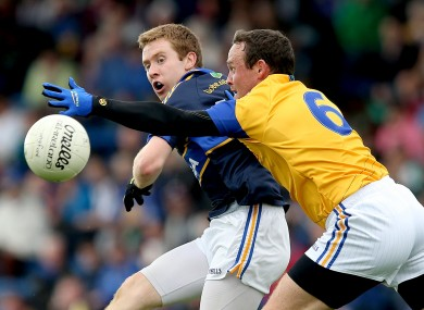 Tipperary's Brian Fox and Enda Williams of Longford.
