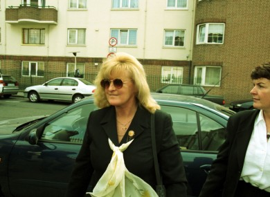 Nevin pictured during her trial in 2000.