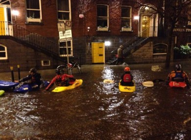 Canoeists on the South Mall, Cork.
