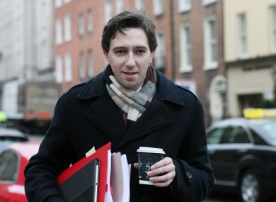 Simon Harris is the new junior finance minister, replacing Brian Hayes.