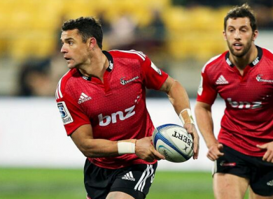 Dan Carter made his first start for the Crusaders after his break away from the game.