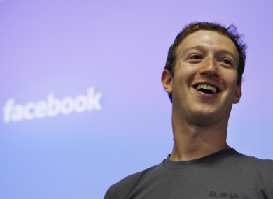 Facebook CEO Mark Zuckerberg looking pleased.