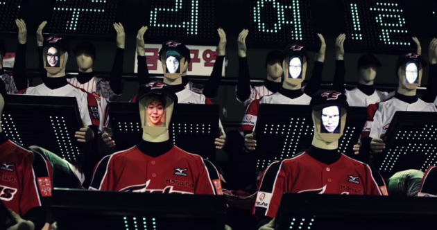 Struggling Korean baseball team create an army of robot fans