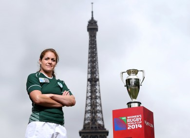 Fiona Coghlan pictured at Champ de Mars Park in Paris today.