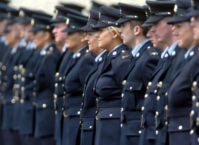 File photo dated 27 May 2004: Newly-graduated gardaí waiting to receive their diplomas at Templemore, Co Tipperary.