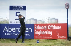Rory McIlroy hits a monster 436-yard drive at the Scottish Open
