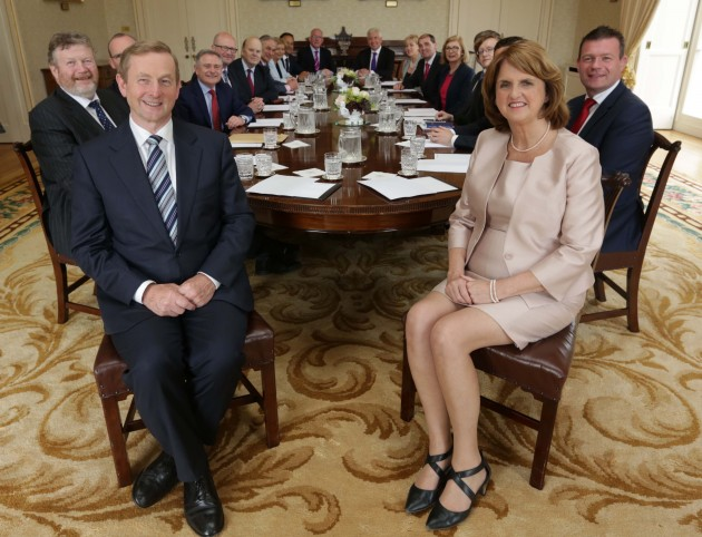Irish Cabinet Reshuffle 2014. Pictured