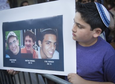 A memorial for the three dead teenagers was held yesterday.