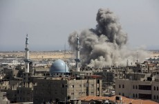 Israeli aircraft continue to strike Gaza as rockets fired from Syria and Lebanon