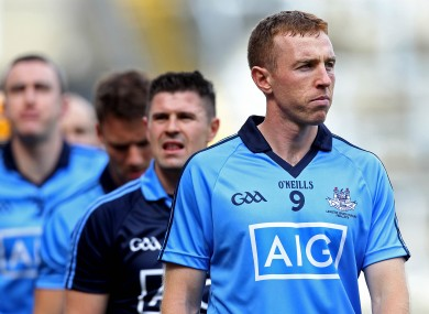 McCaffrey leads his side out at Croke Park last weekend.