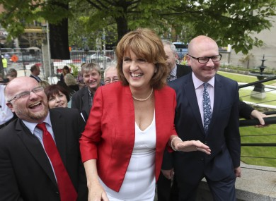 Joan Burton was all smiles all day yesterday