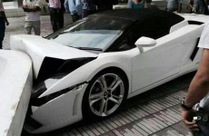 Hotel valet tries to park Lamborghini, drives it into a wall by accident