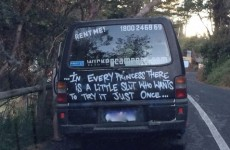 Anger over Australian campervan firm's 'little slut
